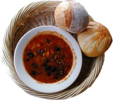 Bakehouse soup and bread